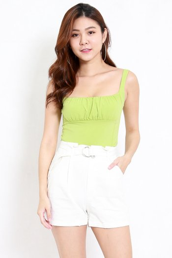 Ruched Front Top (Green)