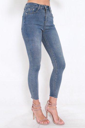 Ibiza Fray Hem Jeans (Dark Wash)