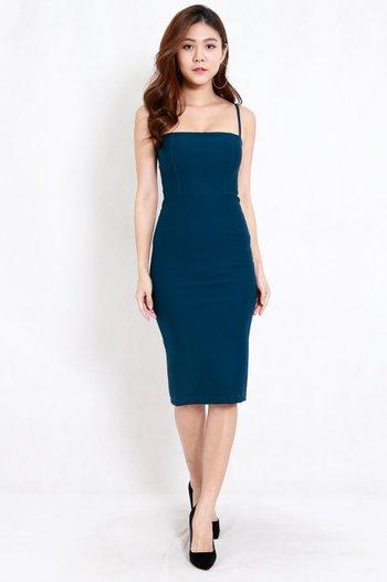 *Premium* Classic Midi Spag Dress (Teal)