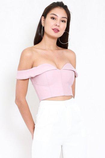 *Premium* Sweetheart Off Shoulder (Light Pink)