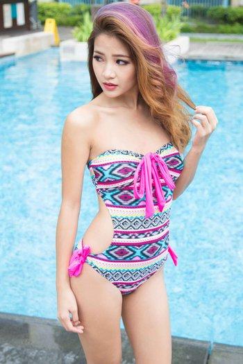 Pink Aztec Monokini