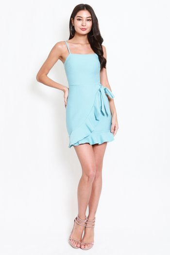 *Premium* Ribbon Overlap Mermaid Dress (Tiffany Blue)