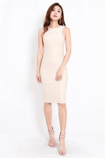 *Premium* Kathy Midi Dress (Ivory)
