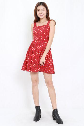 Polka Babydoll Dress (Red)