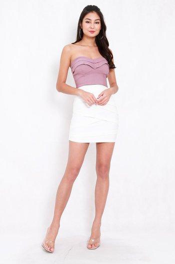 *Premium* Criss Cross Bandage Skirt (White)