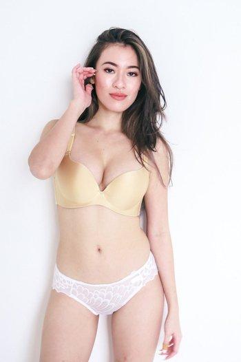 Satin Push Up Bra (Nude)