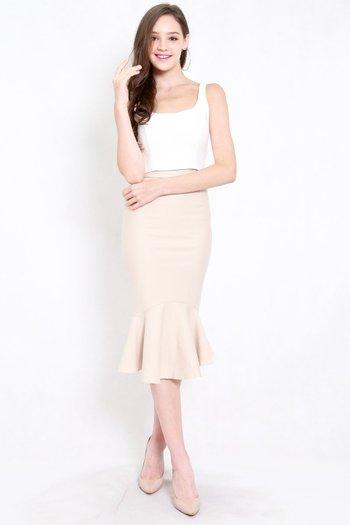 *Premium* Mermaid Midi Skirt (Ivory)