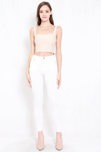 Skinny High Waist Jeans (White)