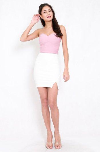 *Premium* Slit Bandage Skirt (White)