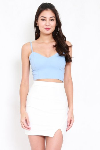 Sweetheart Spag Top (Baby Blue)