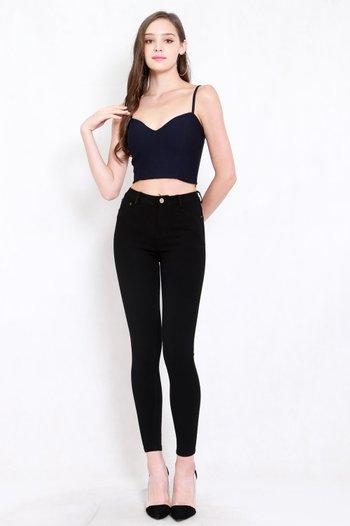 Skinny High Waist Jeans (Black)