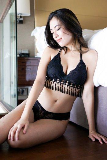 Tassel Lace Bralette (Black)