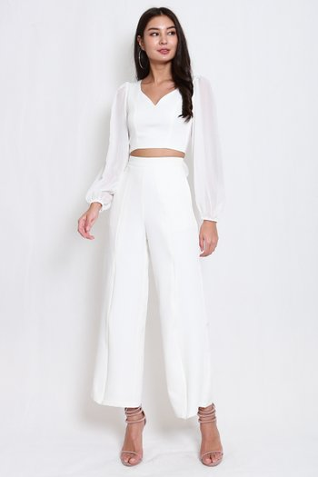 Business Open Back Top (White)