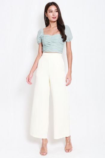 Kelly Sweetheart Ruch Top (Sage)