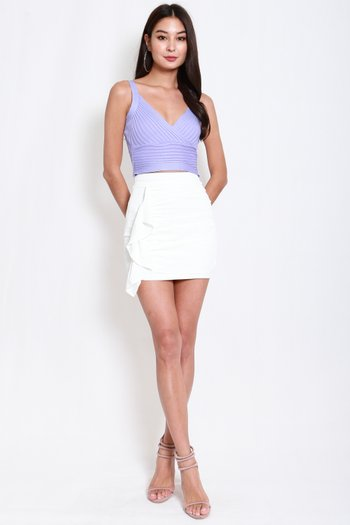 Overlap Knit Top (Lilac)