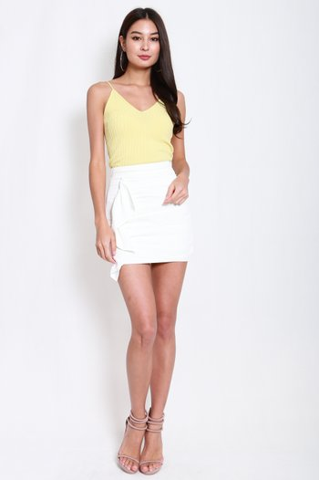 V Neck Knit Top (Yellow)