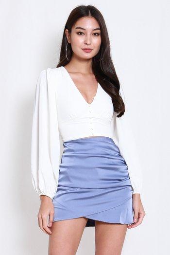 Loretta Long Sleeves Top (White)