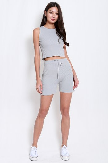2pcs Knit Set (Grey)