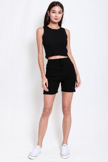 2pcs Knit Set (Black)