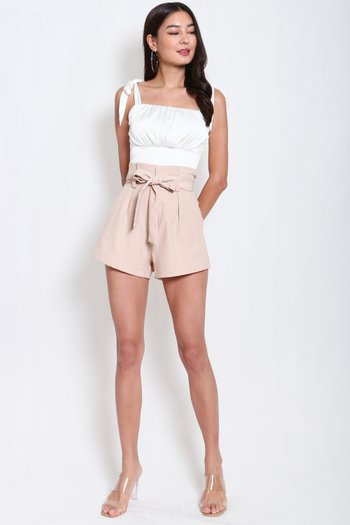 Paperbag Shorts (Nude)