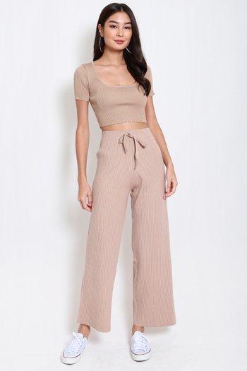 Tasha Knit Pants (Nude)