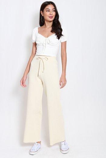 Tasha Knit Pants (Ivory)