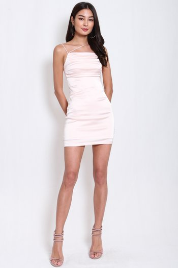 Lola Satin Dress (Fairy Pink)
