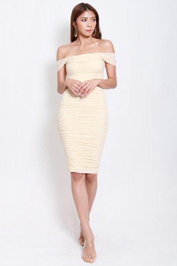 3way Mesh Midi Dress (Nude)