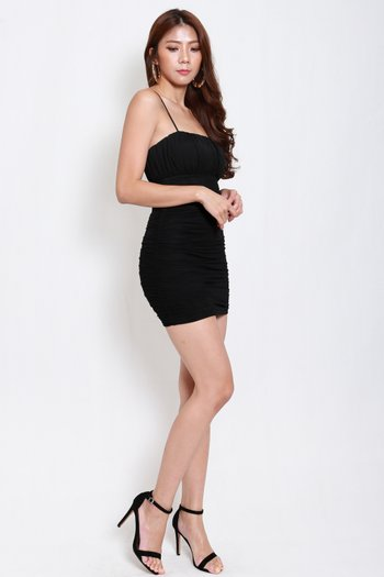 Ruch Mesh Spag Dress (Black)