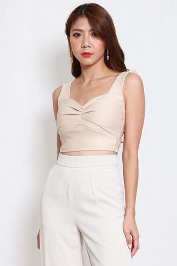 *Premium* Sweetheart Ruch Top (Ivory)