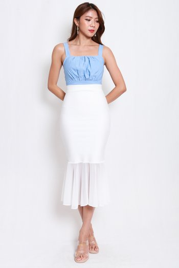 Ruch Square Neck Top (Baby Blue)