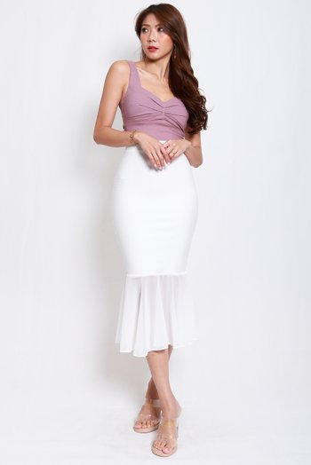 Sweetheart Ruch Top (Lavender)