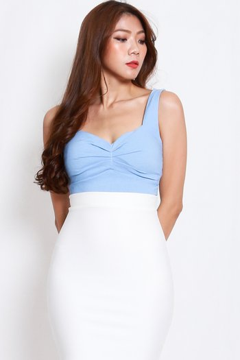 Sweetheart Ruch Top (Baby Blue)