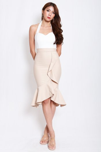 *Premium* Waterfall Ruffle Skirt (Ivory)