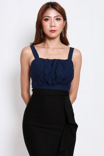 Ruch Square Neck Top (Navy)
